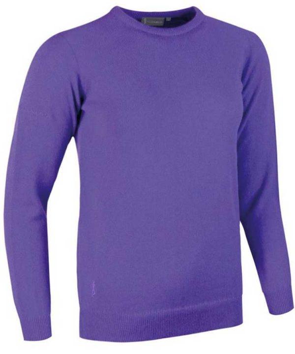Glenmuir Ladies Esther Crew Neck Lambswool Sweater - Violet