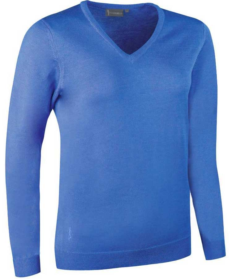 Glenmuir Ladies Maya V Neck Extra Fine Merino Sweater - Tahiti