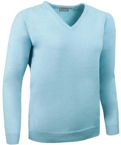 Glenmuir Ladies Nina V Neck Lambswool Sweater - Paradise