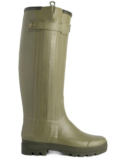 LE CHAMEAU Boots - Ladies Chasseur Neoprene Lined - Vert Vierzon