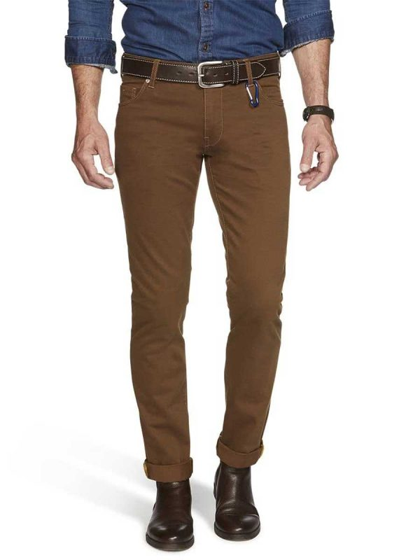 Meyer M5 Jeans - Pima Cotton Five Pocket - Slim Fit - Camel