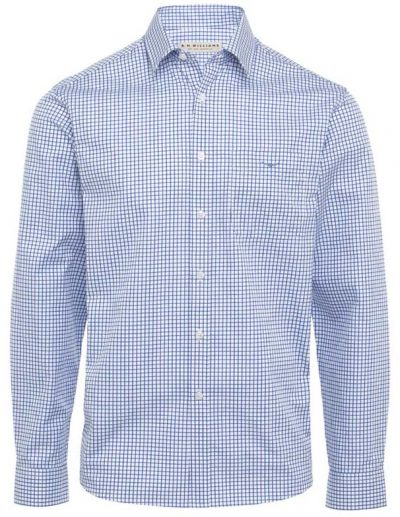 RM Williams - Collins Shirt - Blue & White Check