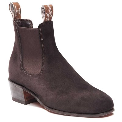 RM WILLIAMS Boots - Ladies Kimberley - Chocolate Suede