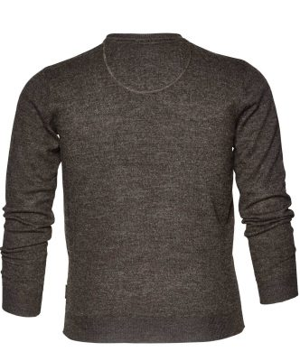 Seeland Men's Compton V Neck Pullover Moose Brown