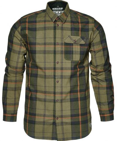 Seeland Men's Conroy Checked Shirts Duffel-Green Check