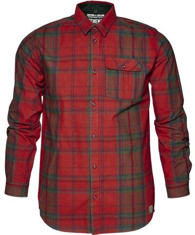 Seeland Men's Conroy Checked Shirts Russet Brown Check