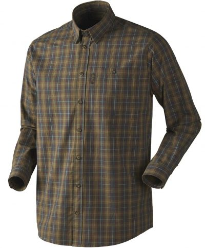 Seeland Men's Kensington Check Shirt - Duffel Green Check