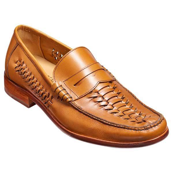 BARKER Jake Shoes - Mens Moccasins - Cedar Grain