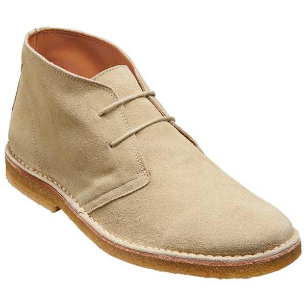BARKER Monty Boots - Mens Derby Desert - Sand Suede