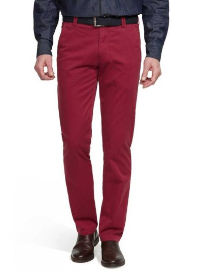 Meyer - Roma 3001 Lightweight Soft Cotton Chinos - Red
