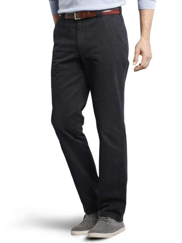 Meyer - Roma 316 Luxury Soft Cotton Chinos - Navy