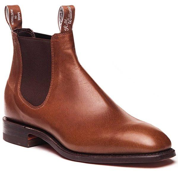 RM WILLIAMS Boots - Men's Kangaroo Comfort Craftsman - Tanbark