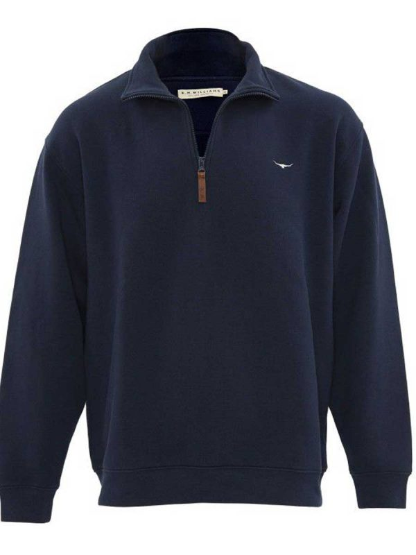 RM WILLIAMS Fleece - Men's Mulyungarie Half Zip - Navy