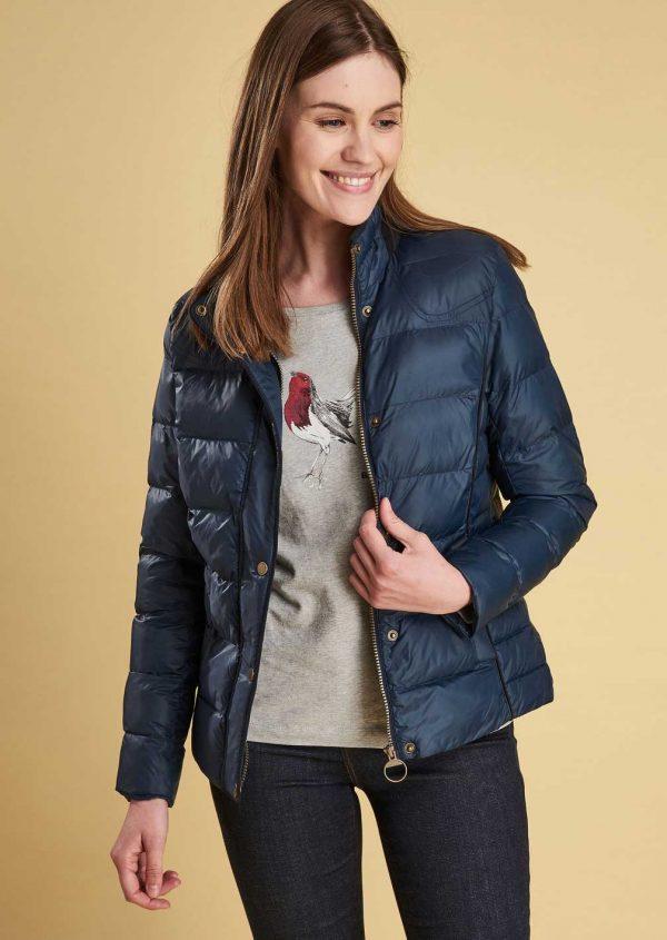 Barbour Ladies Gondola Navy Quilt Jacket