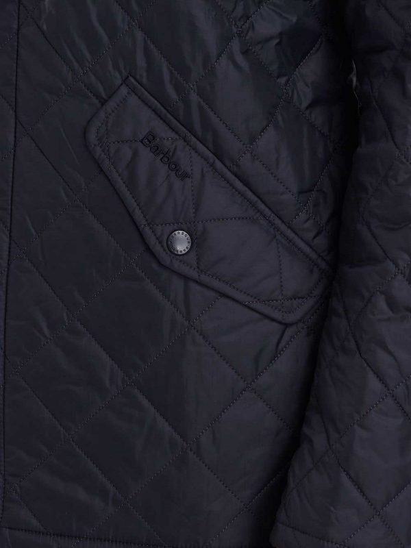 BARBOUR Jacket - Mens Chelsea Flyweight Quilted - Navy