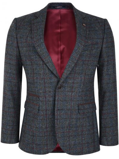 MAGEE Tweed Jacket - Shetland Wool Check - Finn Tailored Fit - Charcoal
