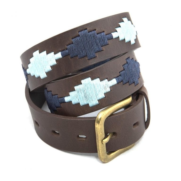Pioneros - Argentinian Polo Belt in Navy/Blue