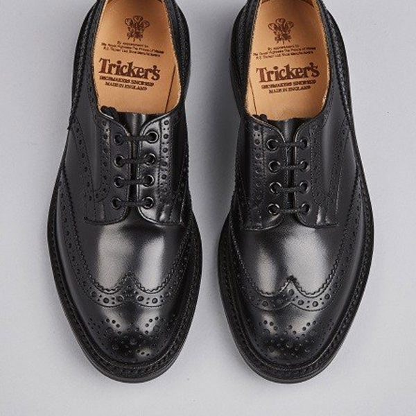 Tricker's Bourton Country Brogues - Black Calf