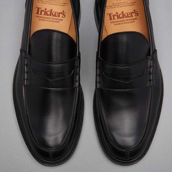 Tricker's James Penny Loafers - Black Calf