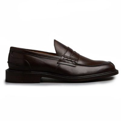 Tricker's James Penny Loafers - Leather Sole Espresso Burnished