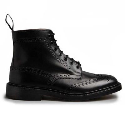 Tricker's Stow Country Boots Black Calf