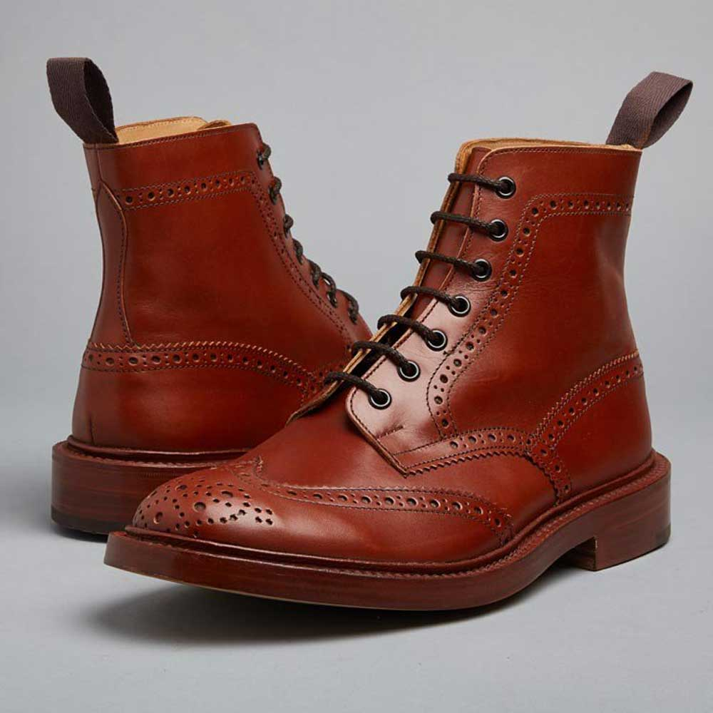 Trickers Boots Mens Stow Dainite Or Leather Sole