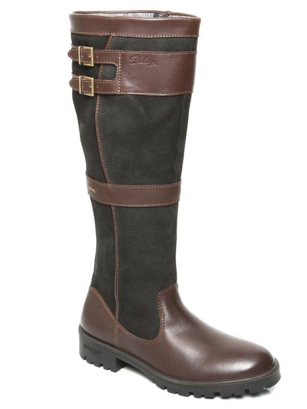 DUBARRY Longford Boots - Ladies Waterproof Gore-Tex Leather - Black & Brown