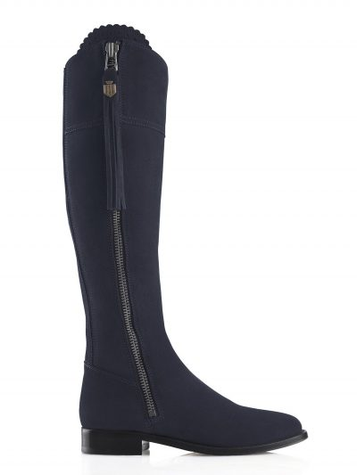 FAIRFAX & FAVOR Boots - Ladies Flat Regina - Navy Suede