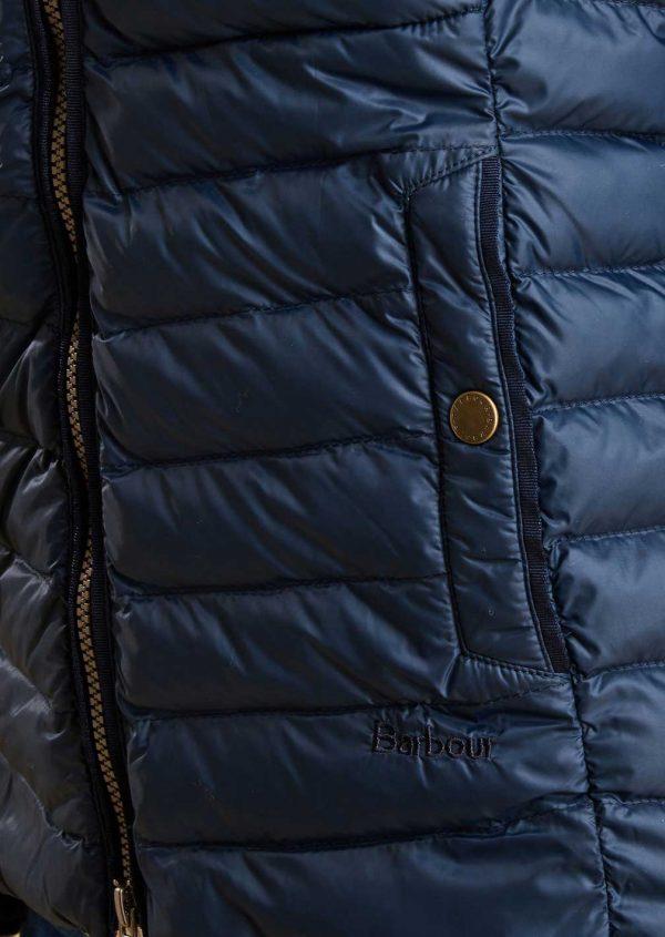Barbour Ladies Highgate Navy Hooded Quilted Jacket