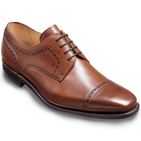 Barker Leo Derby Shoes - Hazelnut Calf