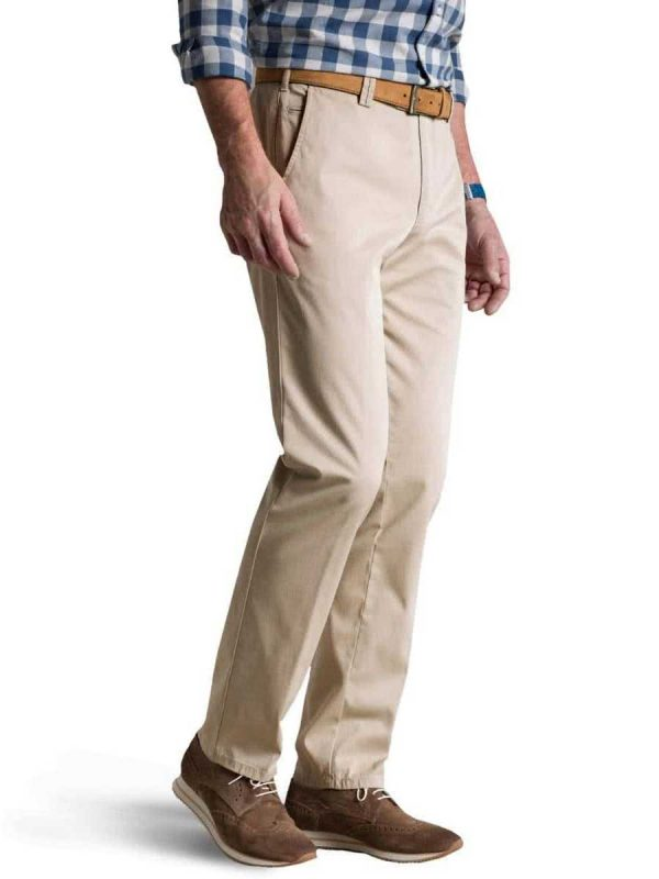 Meyer Roma 3001 Lightweight Soft Cotton Chinos - Beige