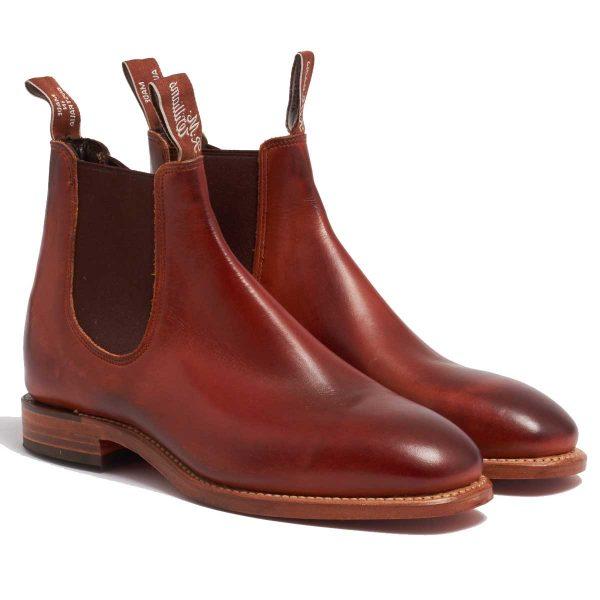 RM Williams Chinchilla Men's Boots Leather Sole - Mahogany