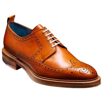 BARKER Bailey Shoes - Mens Derby Brogues - Cedar Calf