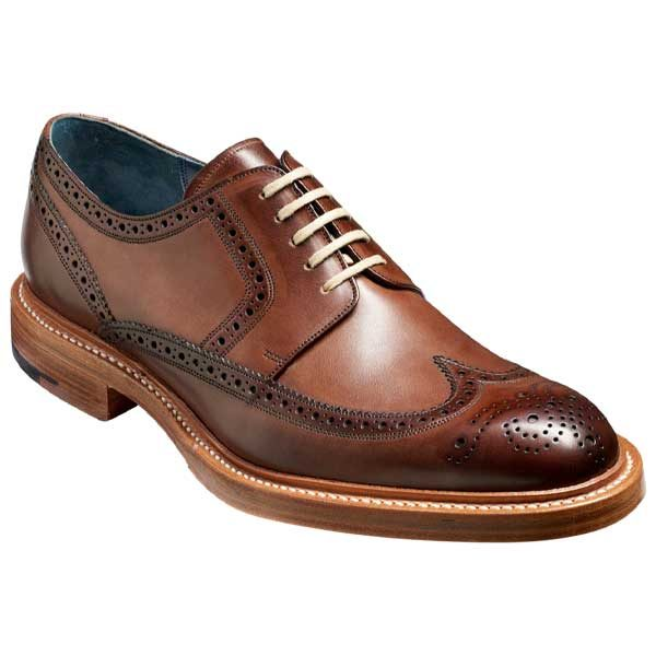 BARKER Bailey Shoes - Mens Derby Brogues - Ebony Hand Painted