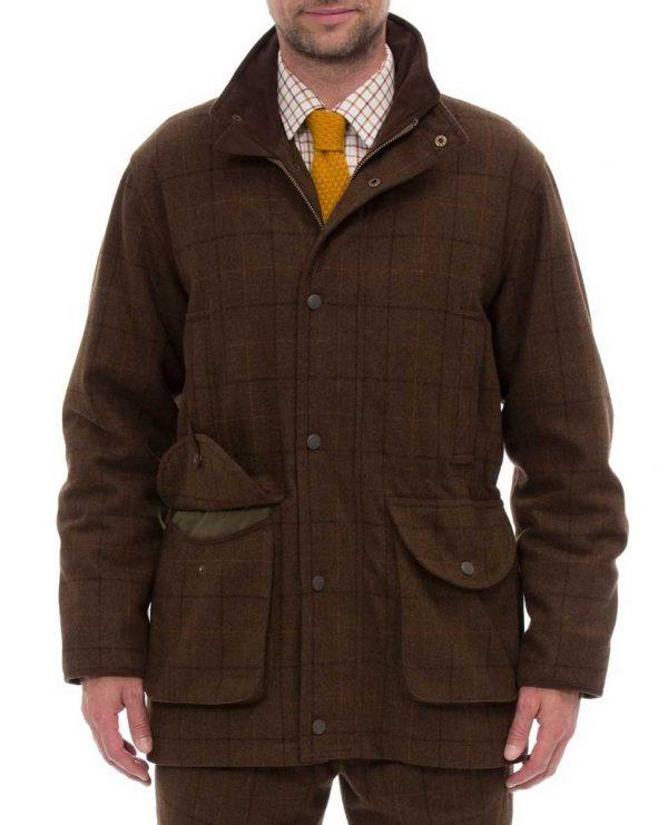 Alan Paine Combrook Men's Tweed Field Coat - Woodland