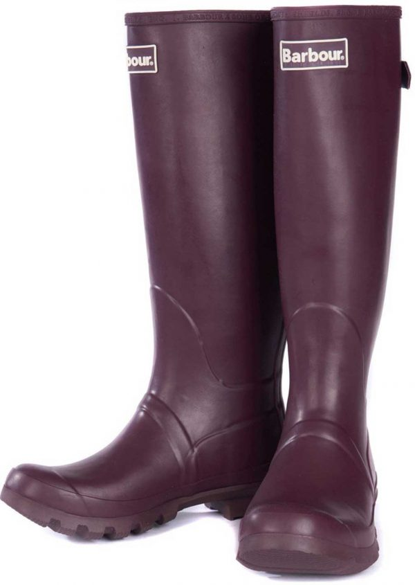 Barbour Jarrow Ladies Wellington Boots - Aubergine