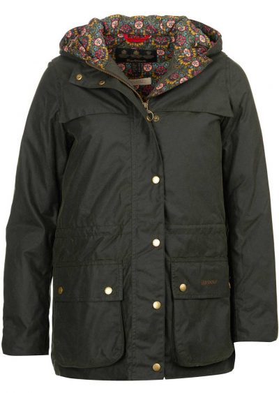 Barbour Ladies Blaise Sage Wax Jacket with Liberty Print