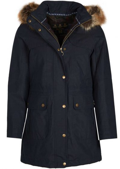 Barbour Ladies Buttermere Navy Waterproof Jacket