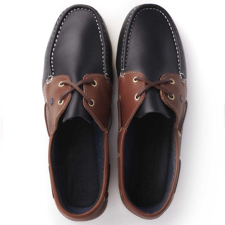 DUBARRY Deck Shoes - Men's Admirals - Navy / Brown