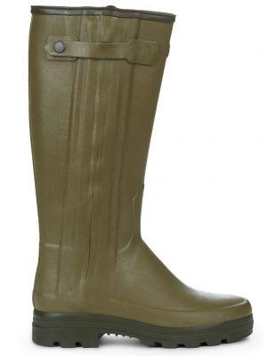 LE CHAMEAU Boots - Mens Chasseur Neoprene Lined - Vert Vierzon