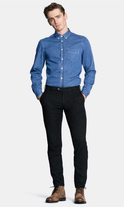 MMX Lupus Chinos Men's Super-Stretch Wool Look - Charcoal