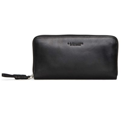 RM Williams Ladies Long Zip Purse - Black