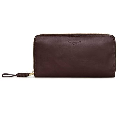 RM Williams Ladies Long Zip Purse - Chestnut