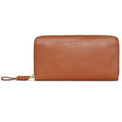 RM Williams Ladies Long Zip Purse - Tan