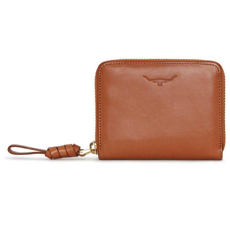 RM Williams Ladies Short Zip Purse - Tan