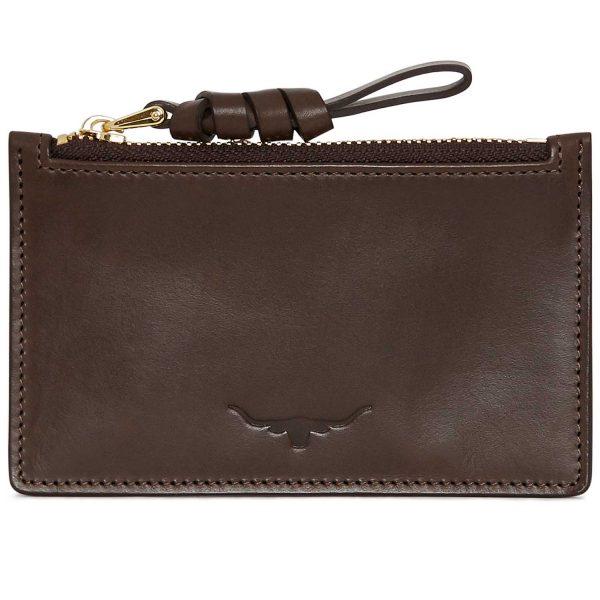 RM Williams Ladies Zip Coin / Card Purse - Chestnut