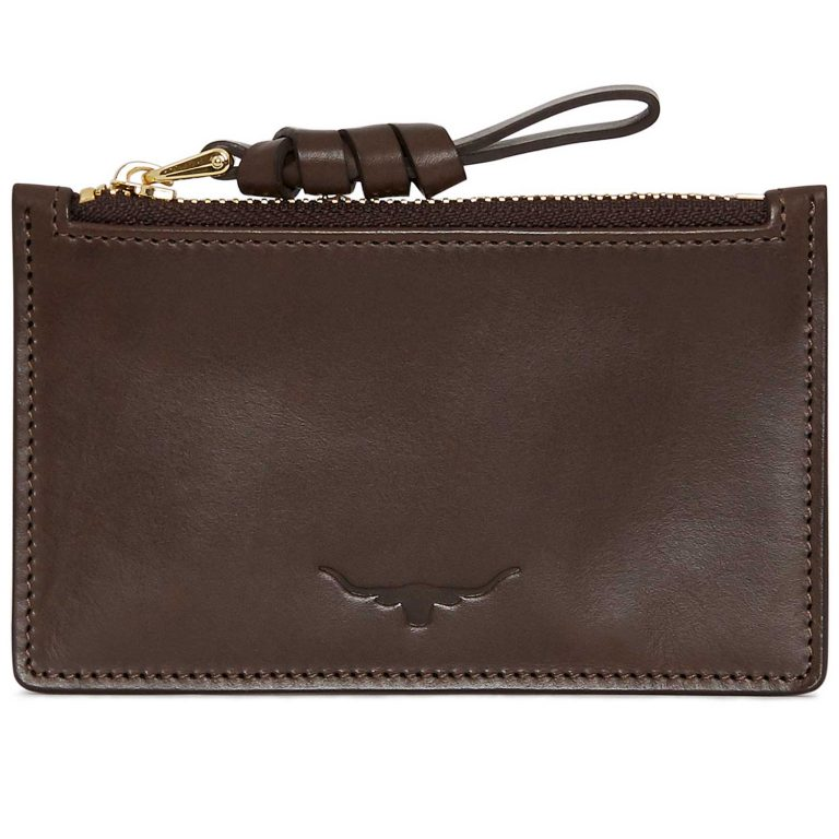 RM Williams Ladies Zip Coin / Card Purse - Chestnut