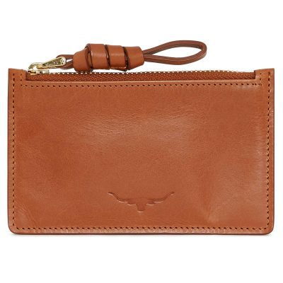 RM Williams Ladies Zip Coin / Card Purse - Tan