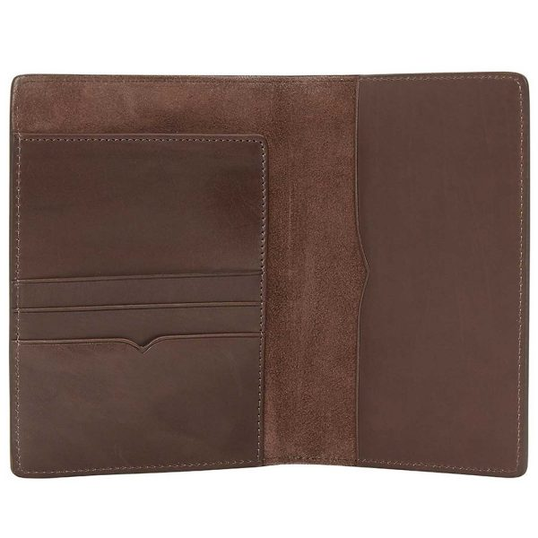 RM Williams Leather Passport Cover - Chestnut