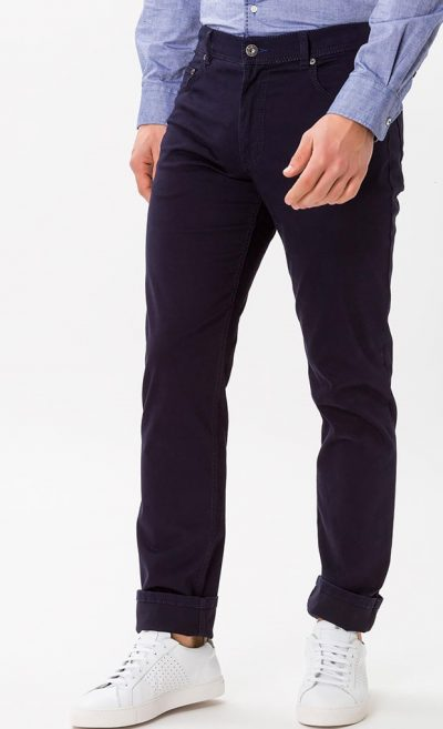 Brax Cooper Jeans - Mens Fancy Cotton Regular Fit - Perma Blue